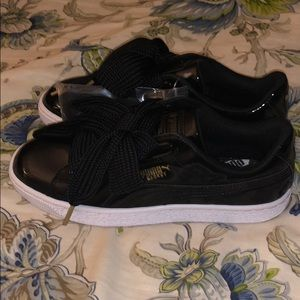 New Puma Basket Heart Patent Sneakers